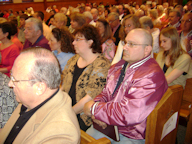 crowd shot of the alumni in attendance photo courtesy of Dave Shaw